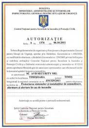 Autorizatie IGSU - Proiectare
