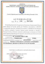 Autorizatie IGSU - Instalare si mentenanta